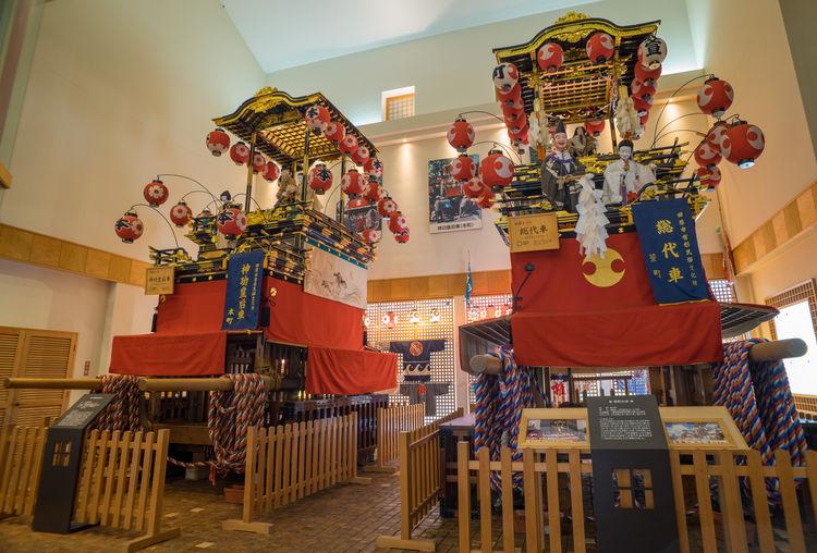 田原まつり会館に飾ってある山車