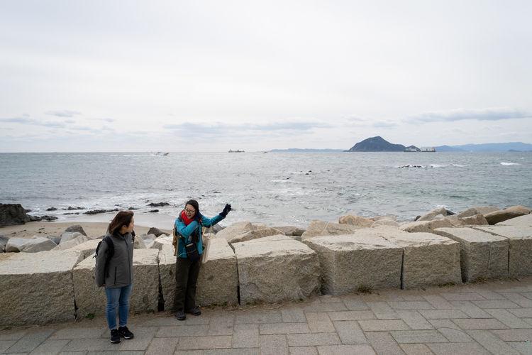 神島がみえてきました