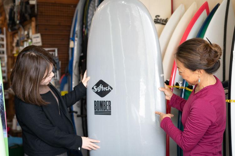 サーフボードを選ぶ